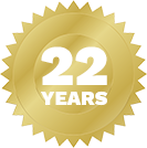 22 years badge